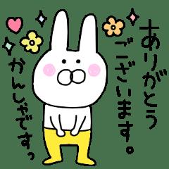 Basic set of rabbit in yellow pants