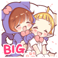 Boy of a cat ear Big Sticker