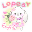 Message of a lop eared rabbit -English-