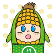 Sticker of cute sweetcorn