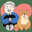 "Mr.Hirokoji and dog""Nakayoshi"""
