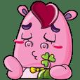 Lucky Red Heart Clover