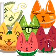 情緒化水果貓