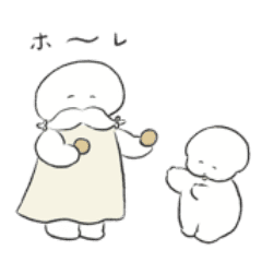 まんじゅう仙人とワヌ山ちゃんスタンプ