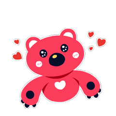 the pink bear-Arty