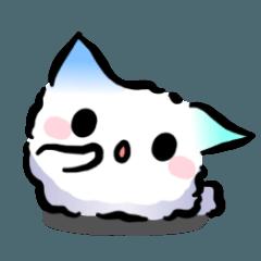 想成為貓的白毛球