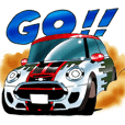 MINI JCW RALLYTEAM. LINE STICKER