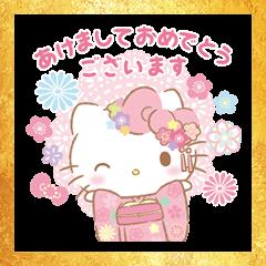 Hello Kitty New Year's Omikuji Stickers