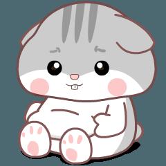 Cute Grey Hamster 2 : Animated