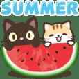 black cat and calico cat[summer](tw)
