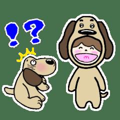犬のじょんことお友達    夏