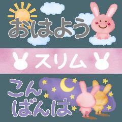 Watercolors picture book,Rabbit,Slim