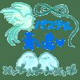 Happy blue bird pastel color2