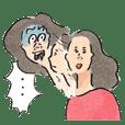 HADAGI-chan Sticker