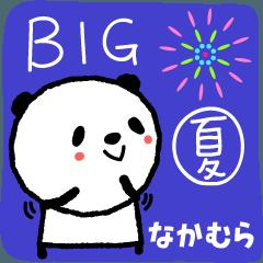 Nakamura 的可愛的熊貓大夏天貼紙