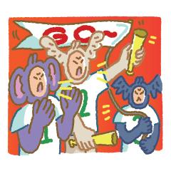天使、惡魔和猴子北鼻!