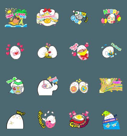 GO!Tamago-chan English stickers