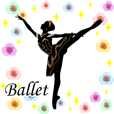 Balletsilhouette Beautiful sticker act.2