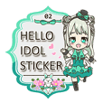 Hello idol sticker 02