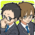 Glasses Two-boys
