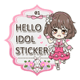 Hello idol sticker 01
