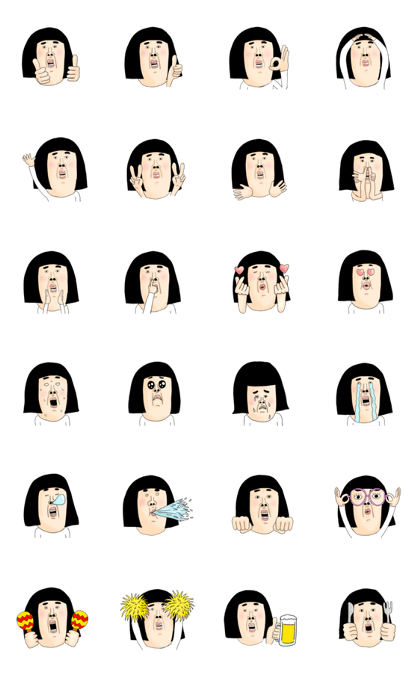 kawaii girl sticker 01