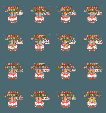 Move! August 17-31 Birthday celebration