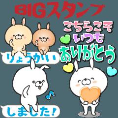 BIG STICKER Large size, Rabbit