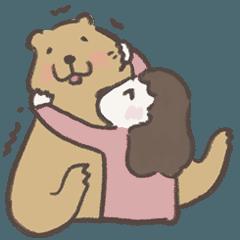 咻咻熊與小女孩(情侶對話篇5)