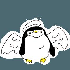 Penguin Family-Black and White
