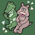 Hippopotamus&Crocodile