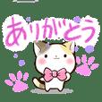 リボンと三毛猫【色鉛筆編】