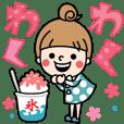 【でか文字×夏】おだんごガール