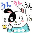 Easy-to-use rabbit stickers