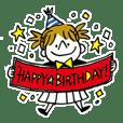 お誕生日お祝い!スタンプ