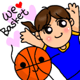Basket team for Girls Stickers!