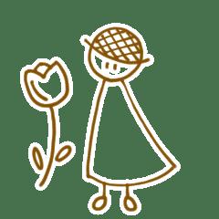 麦わら帽子の女の子と天気たち