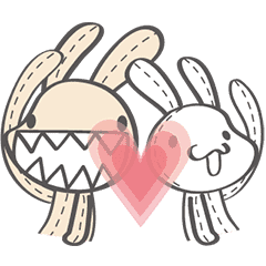 邦妮和兔寶,相親相愛!