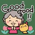 Grandma's interjection sticker