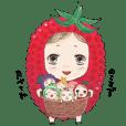 Colorful fruit girls