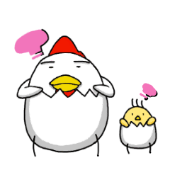 Chicken parent and child daily talk - LINE stickers | LINE ...