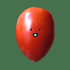 イタリアントマト と 顔
