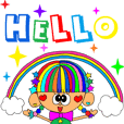Rienbow colorful animation sticker