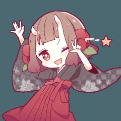 ONINOKO girl sticker