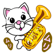A cat which held a musical instrument