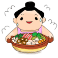 kawaii sumo wrestler sticker