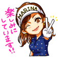 Marina Golf Sticker