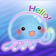 Cute jellyfish 2(semitransparent)
