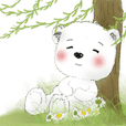 Polar bear Cotton Ball 2(summer)-daily