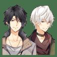 """""""TSUKIUTA."""" meigen stickers"""
